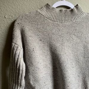 Speckled Cowl Neck Sweater